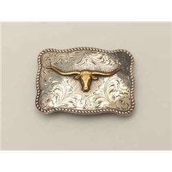 Good Quality and Vintage Western Style Belt  Buckle singed Diablo. marked Sterling, hand  engraved w