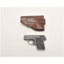"Colt Model 1908 semi-automatic pocket pistol,  .25 caliber, 2"" barrel, blued finish,  checkered blac"
