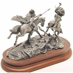 "Pewter sculpture by Donald Polland and issued  by Chilmark Collectors Society entitled  ""When War Ch"