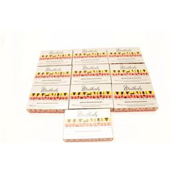 Lot of 10 boxes of Weatherby .257 Weatherby  Magnum brass.    Est.:  $100-$200.