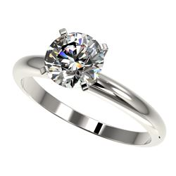 1.57 CTW Certified H-SI/I Quality Diamond Solitaire Engagement Ring 10K White Gold - REF-330F8M - 36