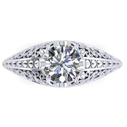 1 CTW Solitaite Certified VS/SI Diamond Ring 14K White Gold - REF-277H2W - 38523