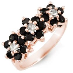 1.25 CTW Vs Certified Black & White Diamond Ring 18K Rose Gold - REF-73N6Y - 13768