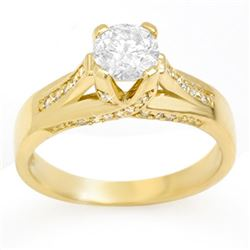 1.18 CTW Certified VS/SI Diamond Ring 14K Yellow Gold - REF-263X4T - 11379