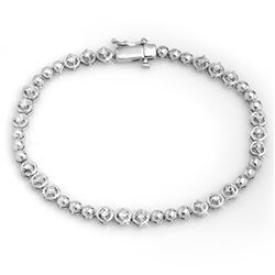 1.25 CTW Certified VS/SI Diamond Bracelet 10K White Gold - REF-107T3X - 11674