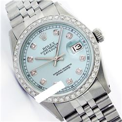Rolex Ladies Stainless Steel, Diamond Dial & Diamond Bezel, Saph Crystal - REF-355F6M