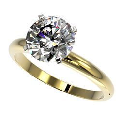 2.50 CTW Certified G-Si Quality Diamond Engagement Ring 10K Yellow Gold - REF-837N6Y - 32944