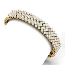 20 CTW Certified VS/SI Diamond Bracelet 18K Yellow Gold - REF-872F8M - 40051