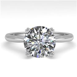 2.03 CTW Certified VS/SI Diamond Engagement Ring 18K White Gold - REF-944R5K - 32445