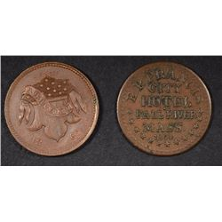 2-CIVIL WAR STORE CARD TOKENS