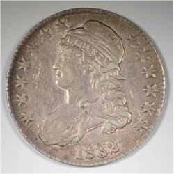 1832 CAPPED BUST HALF DOLLAR, ORIGINAL -AU