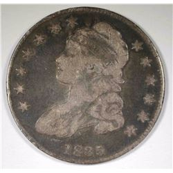1835 CAPPED BUST HALF DOLLAR, VG/F ORIGINAL
