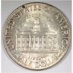 1946 IOWA COMMEM HALF DOLLAR, CH BU TONED