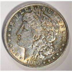 1880-O MORGAN DOLLAR, AU+