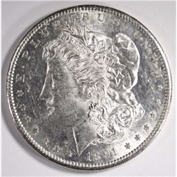 1891-S MORGAN SILVER DOLLAR CHOICE BU