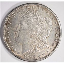 1897-S MORGAN SILVER DOLLAR BU