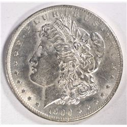 1900-S MORGAN SILVER DOLLAR, CHOICE BU, KEY DATE