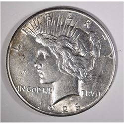 1928 PEACE SILVER DOLLAR AU KEY COIN!
