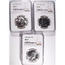NGC GRADED SMS KENNEDY HALF DOLLARS