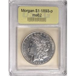 KEY DATE 1893 MORGAN DOLLAR CHOICE BU