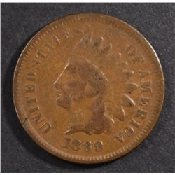1869/9 INDIAN HEAD CENT VG/FINE  KEY