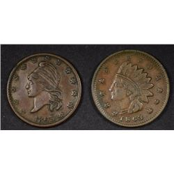 ARMY/NAVY & NOT ONE CENT CIVIL WAR TOKENS