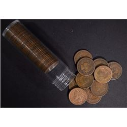 ROLL OF 50-INDIAN CENTS: 1897 & EARLIER