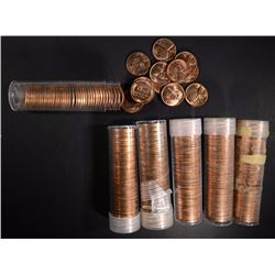 6-BU ROLLS OF 1954-S LINCOLN CENTS