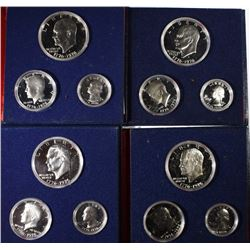 4-U.S. 1976 3-PIECE 40% SILVER PROOF SETS