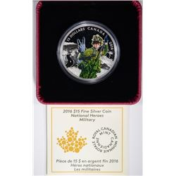 $15 Pure Silver Proof Canada 2016 National