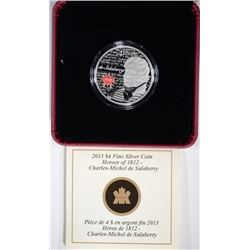 2013 Canada $4 Fine Silver Coin - Heroes of 1812