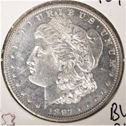 1897 MORGAN SILVER DOLLAR - BU PROOF LIKE - FLASHY