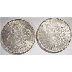 2 - 1921 MORGAN SILVER DOLLAR - AU/BU