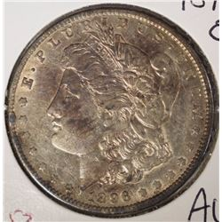 1896-O MORGAN SILVER DOLLAR - TONED AU