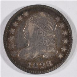 1823/2 CAPPED BUST DIME, F/VF