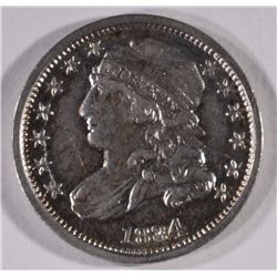 1834 CAPPED BUST DIME, XF/AU -NICE!