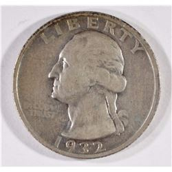 1932-D WASHINGTON QUARTER, VF -KEY COIN