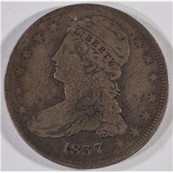 1837 REEDED EDGE BUST HALF DOLLAR, G/VG