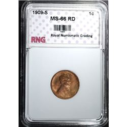 1909-S LINCOLN CENT RNG SUPERB GEM RD