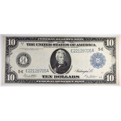 1914 $10 FEDERAL RESERVE NOTE XF