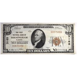 1929 $10 NATIONAL CURRENCY TY1 CH.VF
