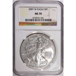 2007 W AMERICAN SILVER EAGLE NGC MS 70