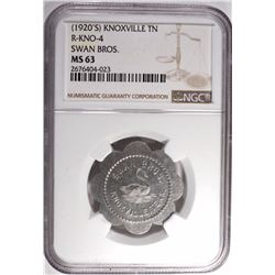 "1920's ""1 LOAF OF BREAD"" SWAN BROS. NGC MS 63"