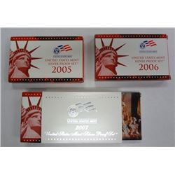 2005, 2006 & 2007 Silver Proof Sets