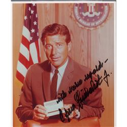 Efrem Zimbalist Jr. Signed 8x10 Photo