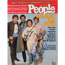 The Empire Strikes Back Cast Signed 1980 People Magazine