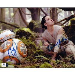 Star Wars Daisy Ridley Ben Schwartz Signed 8x10 Photo