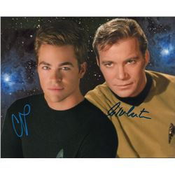 Star Trek William Shatner Chris Pine Signed 8x10 Photo