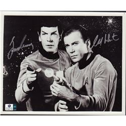 Star Trek William Shatner Leonard Nimoy Signed 8x10 Photo