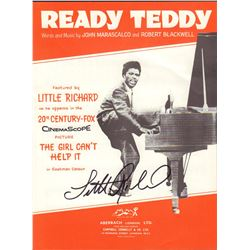 Little Richard Signed Ready Teddy Sheet Music